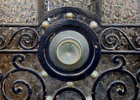 Metal Door Knob on Classic Door Frame