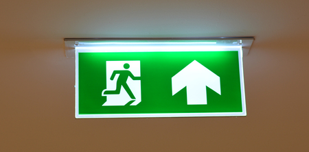 fire exit: Fire Exit Sign