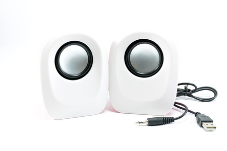 acoustic systems: loudspeaker usb on white background