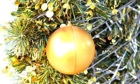 gold  ball: The gold ball in the christmas tree