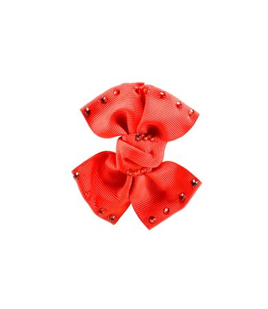 valentine s: Red bow - valentine s day on the white background
