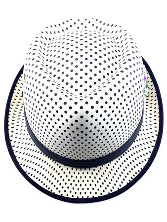 prety: Top of prety hat with girdle on white background.