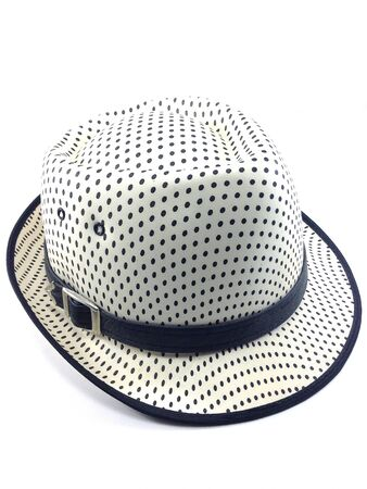 girdle: Side of prety hat with girdle on white background. Stock Photo