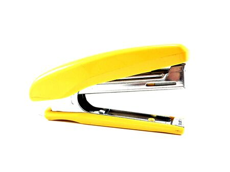 Green Stapler (side view) isolated on white background