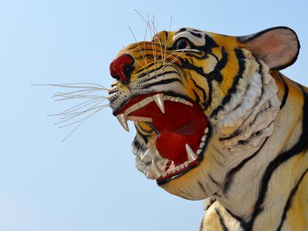 tigress: Head of Tiger Sculpture