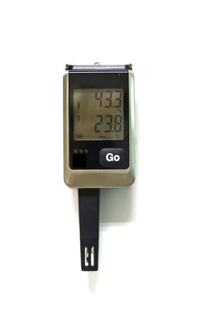 digital thermometer: Digital Thermometer on white background