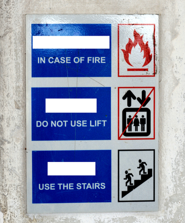 fire exit: Sign Fire Exit