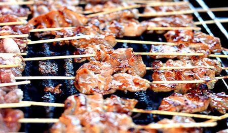 roasting: Blurred - Pig roasting on the stove Stock Photo