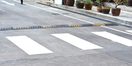 paso de cebra: Paso de peatones en la carretera