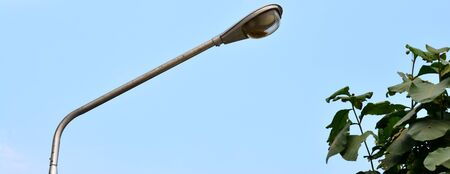lighting background: Street lighting on the blue sky background Stock Photo