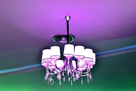 tungsten: The ceiling lamp beautiful with tungsten light Stock Photo