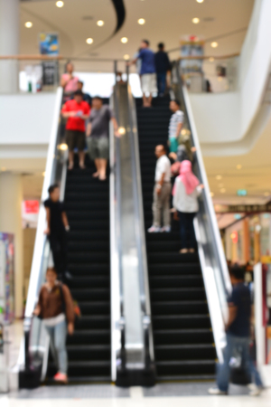 peoples: Blurred - Escalator with peoples
