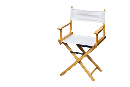 Film director chair or movie film industry of concept on isolated white background and copy space Stock Photo