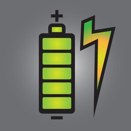 Entièrement chargé de batterie de téléphone intelligent avec un design simple vecteur - Batterie de téléphone intelligent entièrement de concept