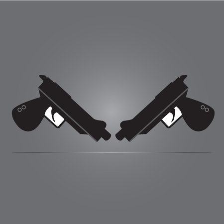 Semi-automatic twin guns with simple vector design - War of concept