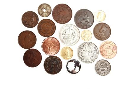 rare background: Old scarce Australian coins