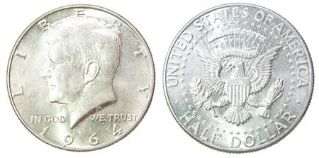 USA Half Dollar 1964 Kennedy Liberty Silver coin