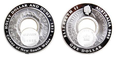 holey: 2003 Australian Holey Dollar and Dump