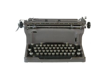 Antique typewriter isolated against white background Stock Photo