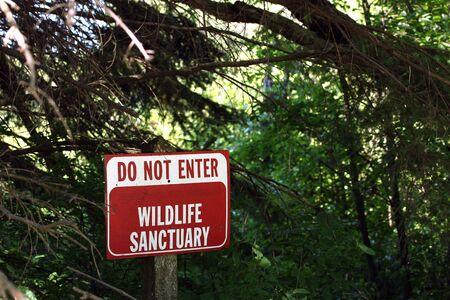 do not enter: No trespassing sign Stock Photo