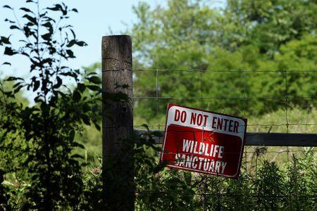 no trespassing: No firmar la invasi�n a valla  Foto de archivo