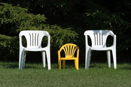 Family of chairs - horizontal 版權商用圖片 - 573255