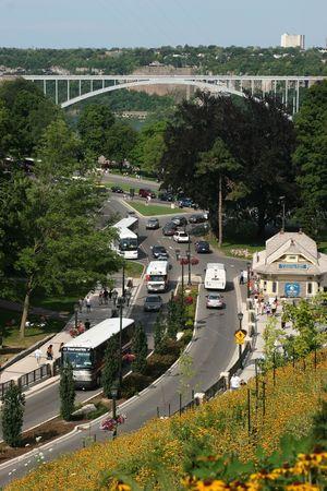 Road leading towards Rainbow Bridge - Niagara Falls