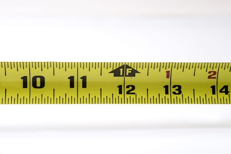One foot mark on tape measure Imagens