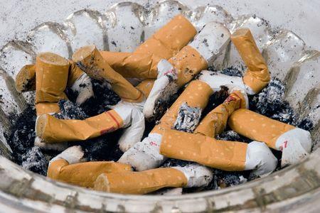 Close-up of ashtray