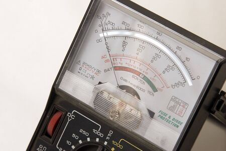 close-up of voltage meter  Stock Photo
