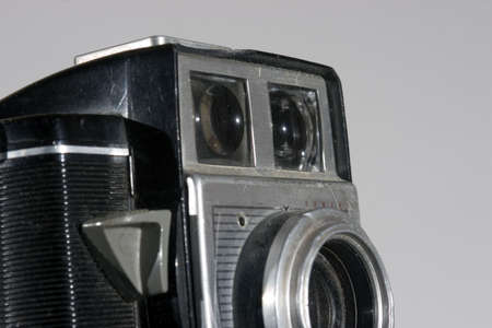 Close-up of antique camera