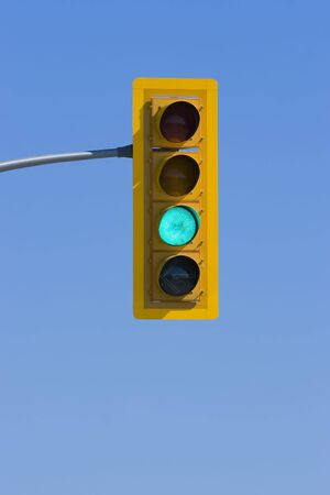 Traffic light with green light indicating to go