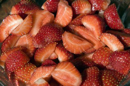 munching: Strawberries ready for munching Stock Photo