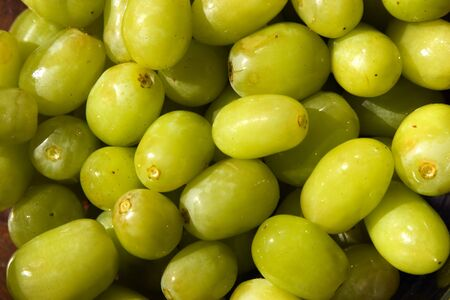 Lots of green grapes