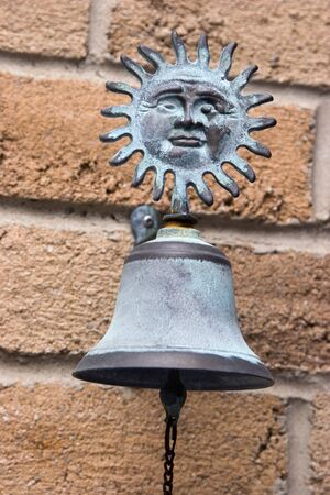 oxidized: Oxidized copper antique doorbell