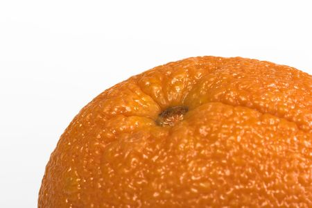 Top of an orange isolated against a white background Stock Photo