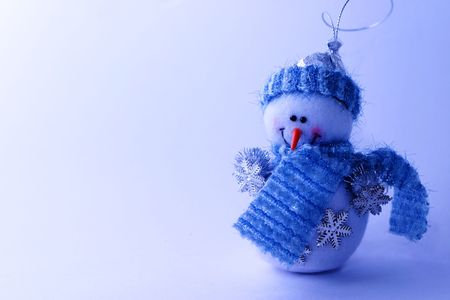 seasonable: Christmas card with a snowman