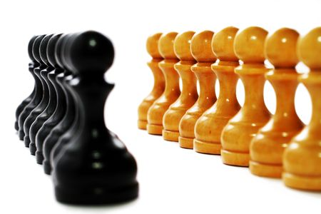 Business strategy - shess figures photo