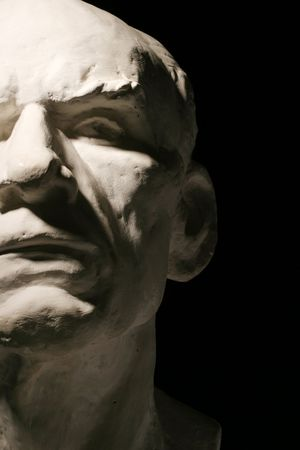 classic monster: Plaster statue mans head