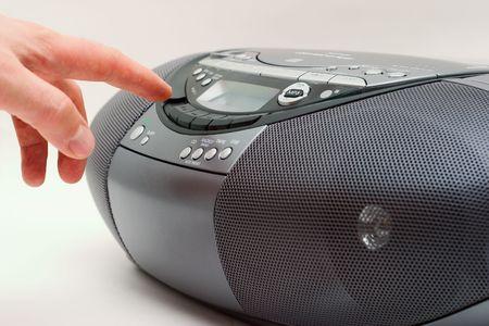 cdrom: New style portable Music Boom Box Stock Photo