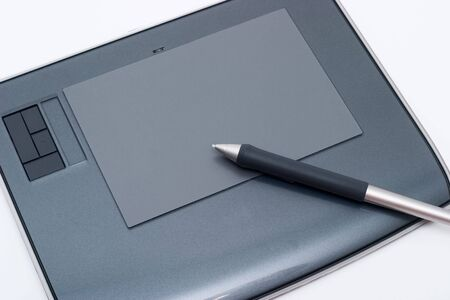 Graphic tablet. Designers  tools for drawing photo