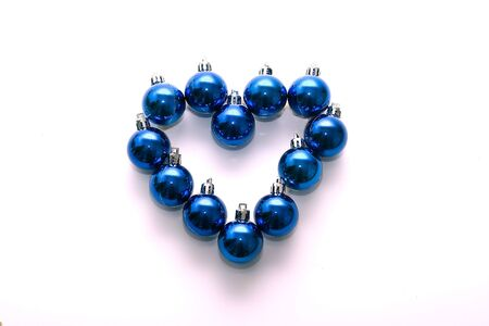 New Years decorations in the form of heart: execution romantic desires at Christmas photo