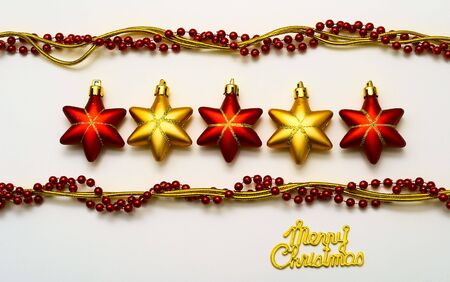 cristmas card: Cristmas card with stars Stock Photo