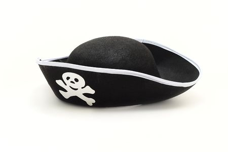 Hat pirate isolated on white background photo