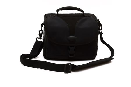 Bag for a photo. Camera case. Isolated against a white background. photo