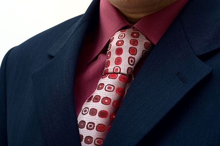 Man's business suit: a jacket, a shirt and a tie close up Stock Photo - 3815373