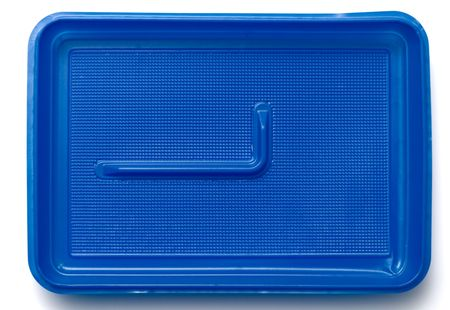 Plastic lunch box isolated on a white background photo