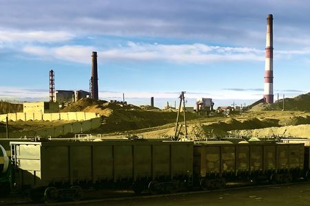 Industrial landscape. Karabash, Russia. The company for the production of copper. Stock Photo - 4123017