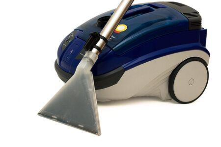 Modern washing vacuum cleaner. Isolated on a white background. Natural shade. Studio work. photo