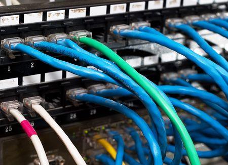 Network equipment for providing the internet. Stock Photo - 4186222